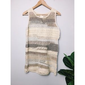 Anthro Far Away From Close Altiplano Crochet Tunic
